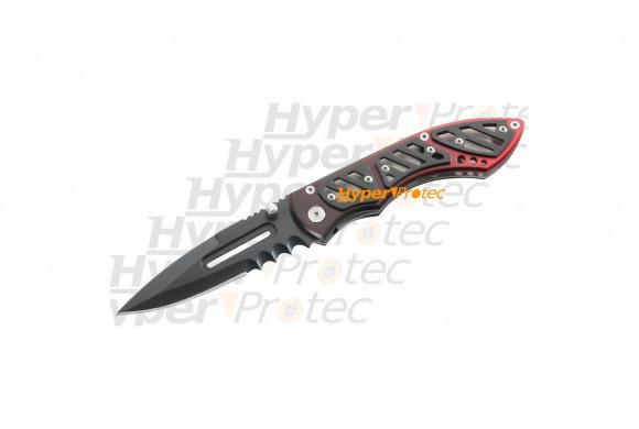 Couteau pliant Red Fire - lame lisse et crantée