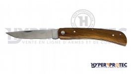Couteau pliant manche bois foncé lame 9 cm