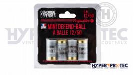 Concorde Defender Mini Defend-Ball à Balle - Cartouche Calibre 12
