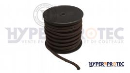 Corde noire diametre 7 mm - longueur 50 m
