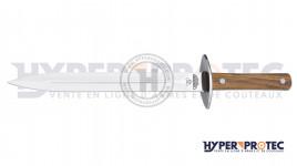 Dague à servir de chasse manche en olivier Cudeman 37 cm