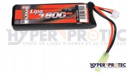 Swiss Arms Lipo 7.4V 1800 mAh 30C - Batterie Airsoft