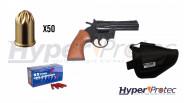 Pack 357 Magnum Noir crosse bois alarme