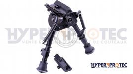 Bipied en métal pour rail 22 mm et grenadière - ASG