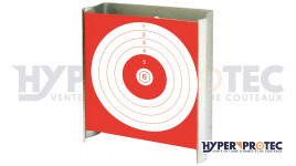 Porte Cible ultra plat 10x10 cm pour carabine et pistolet à plomb