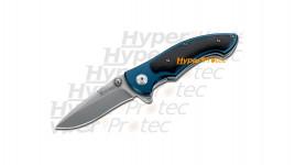 Couteau Bleu Patrol manche en bois