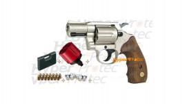 Pack Colt Detective Special chromé crosse bois - revolver 9mm