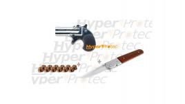 Pack Promo Derringer et couteau Kimar 6 mm à blanc