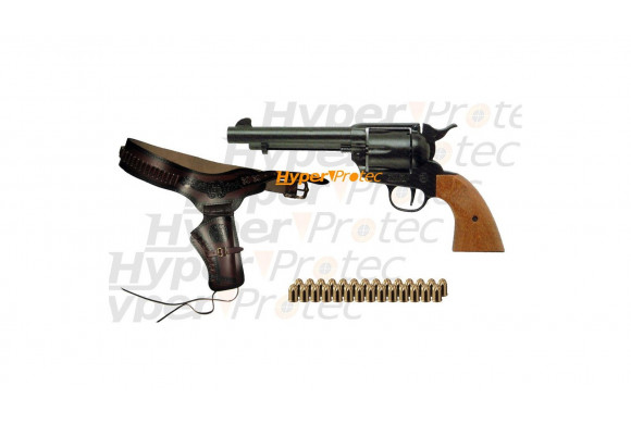 Pack Western Country Colt 1873 SA + holster + cartouche