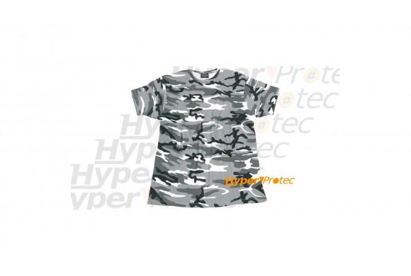 Tee-shirt camo militaire noir et blanc - Taille S