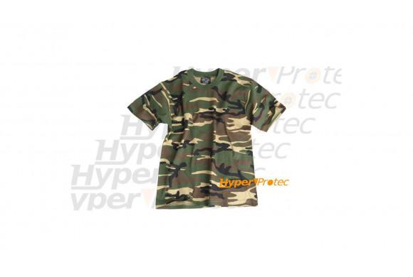 Tee-shirt camo militaire vert - Taille enfant