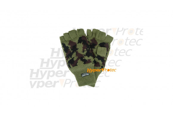 Mitaines vertes camo extensibles Thinsulate