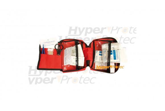 Trousse de premiers secours rouge avec zip