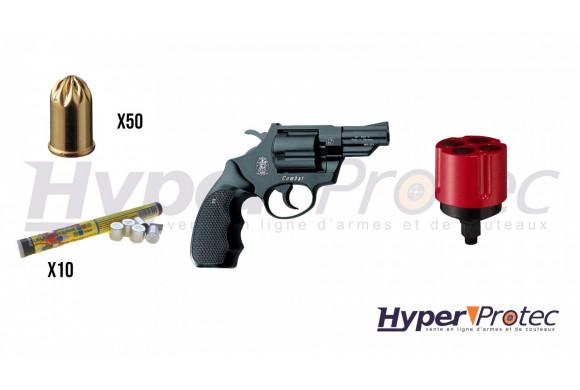 Pack promo Alarme Revolver Smith & Wesson avec fusées