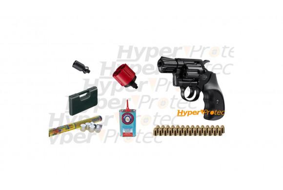 Pack Colt Detective Special noir crosse noire avec munitions