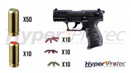 Promo Walther P22Q Alarme noir culasse métal - pistolet à blanc -