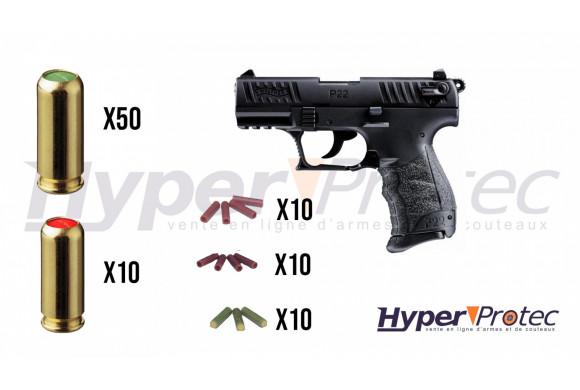 Promo Walther P22Q Alarme noir culasse métal - pistolet à blanc