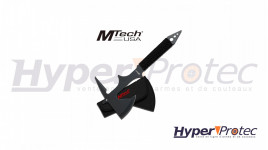 Hache Tomahawk noire plate a lancer avec manche paracorde - 38 cm