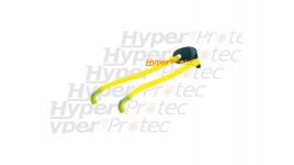 Elastique tubulaire jaune pour lance pierre ou fronde