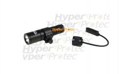 Lampe tactical Walther noire + 2 piles + collier pour 22 mm