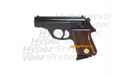 Mauser HSC 84 COLLECTOR - Pistolet alarme 8 mm noir crosse bois