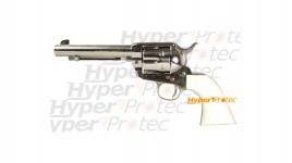 Colt 1873 nickel crosse ivoirine 14 cm - revolver alarme