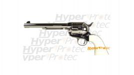 Colt 1873 nickel crosse ivoirine 19 cm - revolver alarme