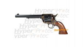 Colt 1873 acier jaspé crosse noyer 19 cm - revolver alarme
