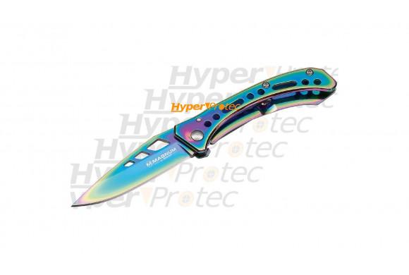 Couteau pliant rainbow III tout métal avec clip de ceinture