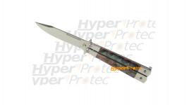 Couteau papillon Nac avec clip ceinture manche nacre