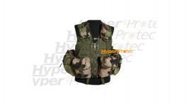 Gilet assaut camo militaire 8 poches