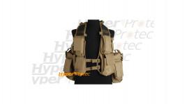Veste tactical coyote veste avec 12 poches