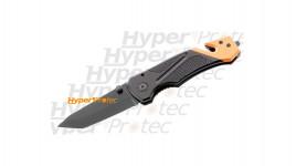 Couteau pliant Rescue noir orange