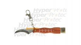Petit couteau à champignon avec porte clef
