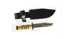 Super mini poignard Fox Rambler doré