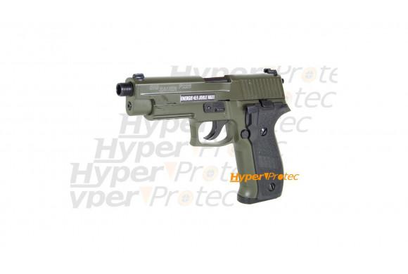 Umarex P88 - Pistolet alarme nickel crosse bois 9 mm