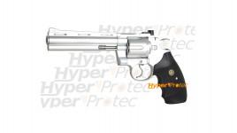Revolver réplique 357 python chromé airsoft GBB Gaz six pouces