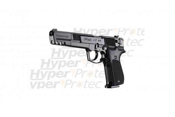CP88 Competition noir crosse noire - pistolet à plombs 6 pouces