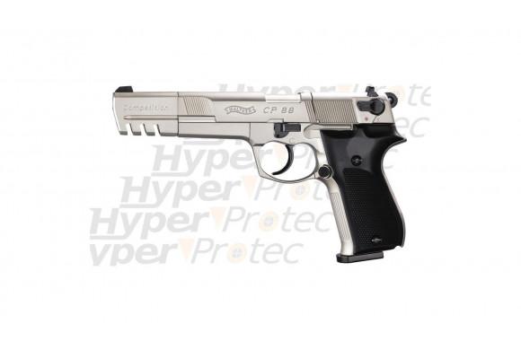 CP88 Competition nickel crosse noire - Pistolet 6 pouces