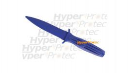 Couteau en caoutchouc bleu - Entraînement au self défense