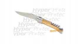 Grand couteau Laguiole tire-bouchon + lame guillochée