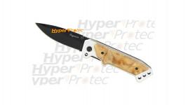 Couteau Laguiole lame noire avec clip de ceinture