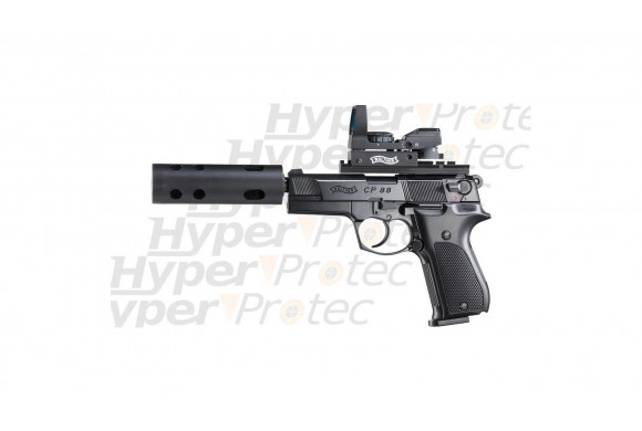 CP88 Tactical + silencieux + point rouge - Pistolet à plombs