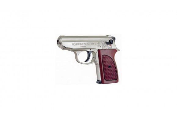 pistolet alarme de poche RG70 nickel crosse bois