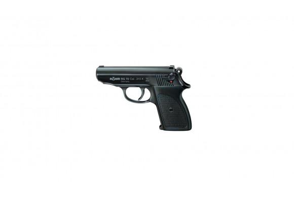 PISTOLET alarme de poche RG70 noir crosse noire