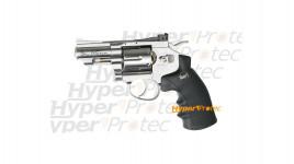 Revolver Dan Wesson chromé 2.5 pouces - billes acier 4.5 mm