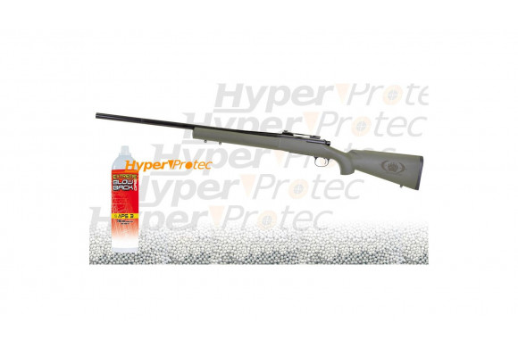 Sniper SA1 Green Swiss Arms GBB avec gaz et billes - 591 fps