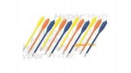 12 flèches couleur pour pistolet arbalète pointes acier