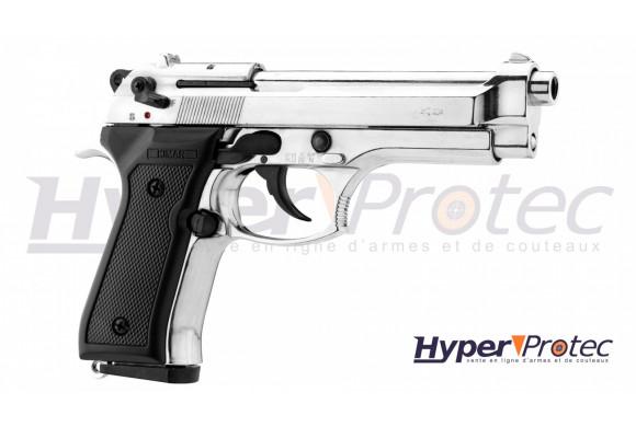 Kimar Mod 92 Auto - Pistolet Alarme - Chromé