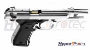Pistolet Alarme Chromé Kimar modèle Beretta 92